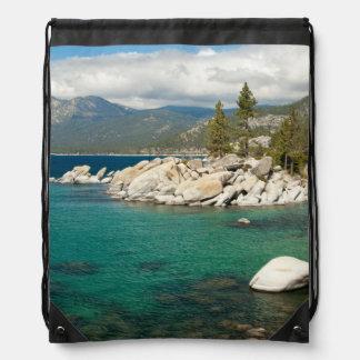 Lake Tahoe Landscape Drawstring Bag