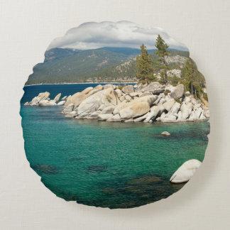 Lake Tahoe Landscape Round Cushion
