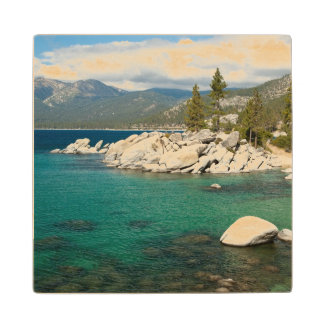 Lake Tahoe Landscape Wood Coaster