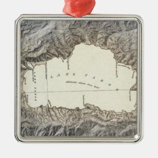 Lake Tahoe map Christmas Ornament