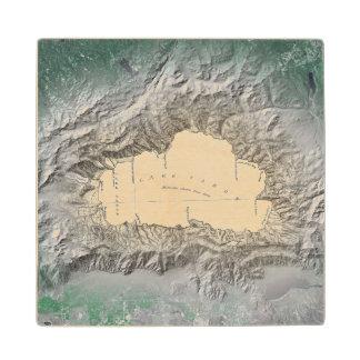 Lake Tahoe map Wood Coaster