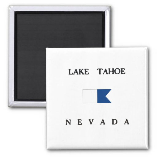 Lake Tahoe Nevada Alpha Dive Flag Magnets