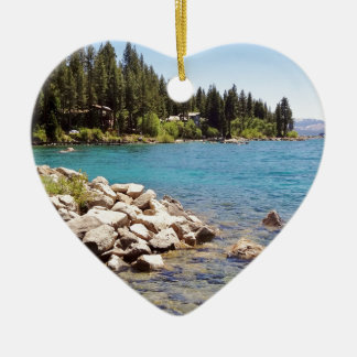 Lake Tahoe Nevada Ceramic Heart Decoration