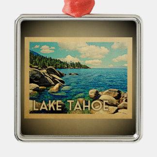 Lake Tahoe Ornament Vintage Travel