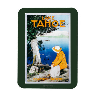 Lake Tahoe Promotional PosterLake Tahoe, CA Rectangular Photo Magnet