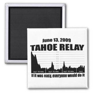 Lake Tahoe Relay Square Magnet