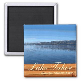 Lake Tahoe rustic wood sign artistic magnet