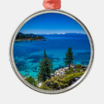 Lake Tahoe Silver-Colored Round Decoration
