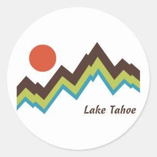 Lake Tahoe Round Sticker
