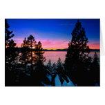 -Lake Tahoe Sunset 2011 Stationery Note Card