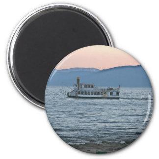 Lake Tahoe Sunset 6 Cm Round Magnet