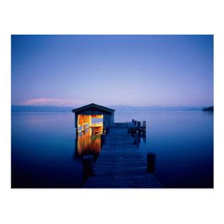 Lake Tahoe Sunset Postcard