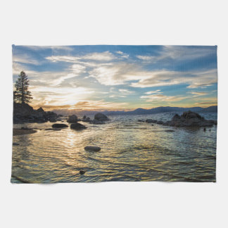 Lake Tahoe Sunset Tea Towel