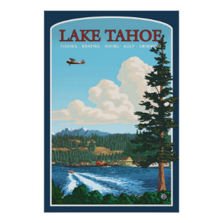 Lake Tahoe Travel Poster