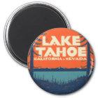Lake Tahoe Vintage Travel Decal Design Magnet