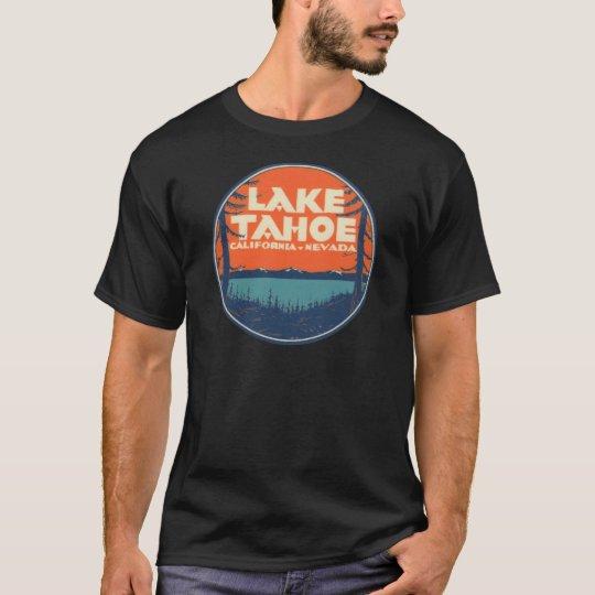 Lake Tahoe Vintage Travel Decal Design T-Shirt