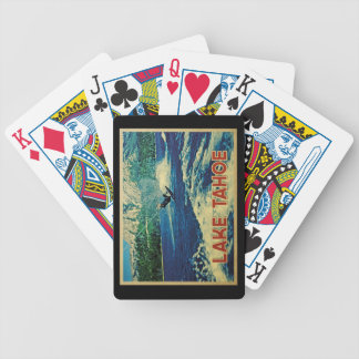 Lake Tahoe Water Skier Bicycle Playing Cards