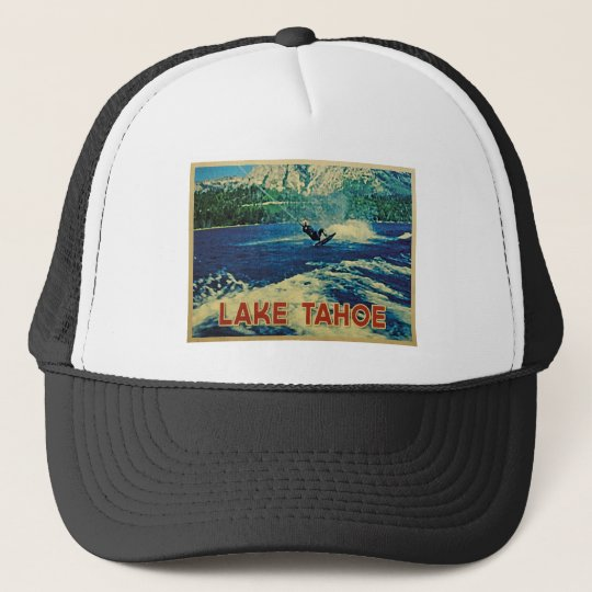 Lake Tahoe Water Skier Trucker Hat