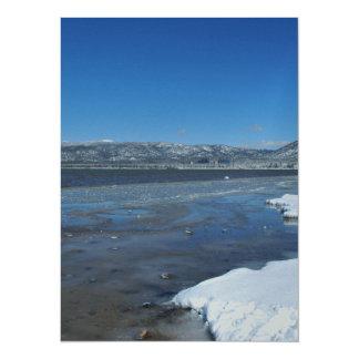 Lake Tahoe Winter 14 Cm X 19 Cm Invitation Card