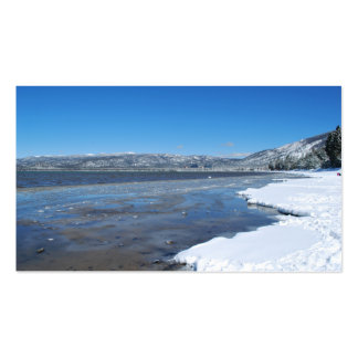 Lake Tahoe Winter Business Card Template