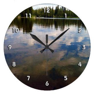 Lake Time! Large Clock