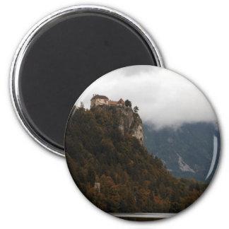 Lake View 6 Cm Round Magnet