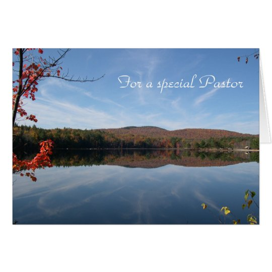 Lake View Pastor's Birthday Card