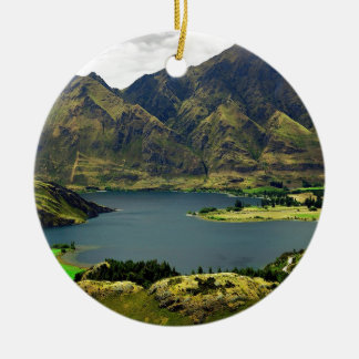 Lake Wannaka New Zealand Christmas Ornament