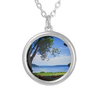 Lake Washington Round Pendant Necklace