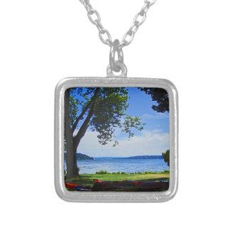 Lake Washington Square Pendant Necklace