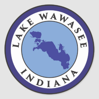 Lake Wawasee, Indiana Classic Round Sticker