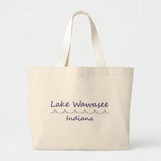 Lake Wawasee, Indiana Large Tote Bag