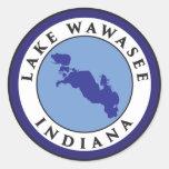 Lake Wawasee, Indiana Round Sticker