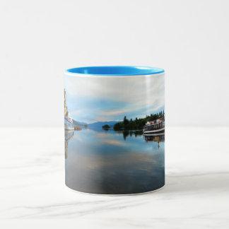 LAKE WINDEMERE,THE LAKE DISTRICT,ENGLAND, UK Two-Tone COFFEE MUG