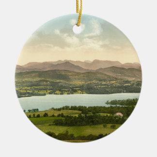 Lake Windermere I, Lake District, Cumbria, England Round Ceramic Decoration