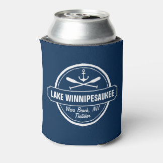 Lake Winnipesaukee NH custom town, name, anchor