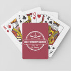 Lake Winnipesaukee NH custom town, name, anchor Playing Cards