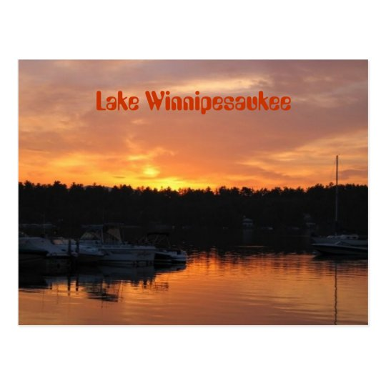 Lake Winnipesaukee Sunset Postcard