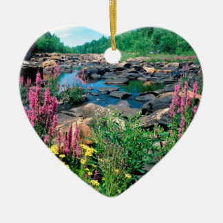Lake Wisconsin River Ice Age Reserve Wisconsin Ceramic Heart Decoration