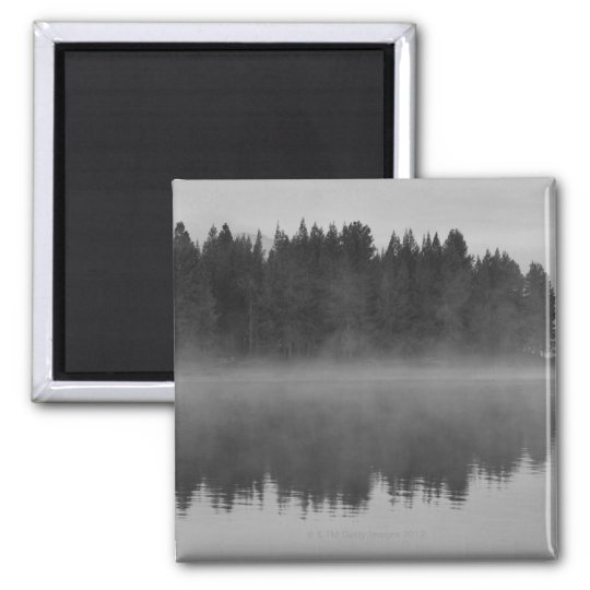 Lake with fog, Oregon Magnet
