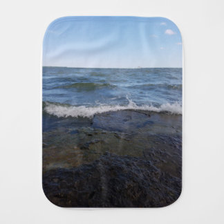 Lakefront beach burp cloth