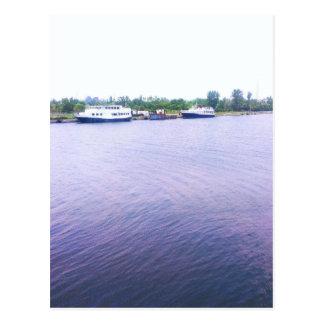 lakefront postcard