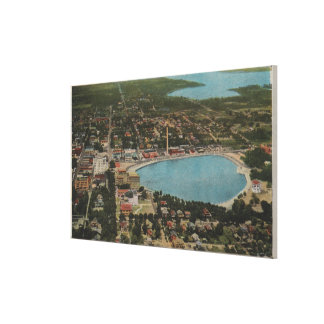 Lakeland, Florida - Aerial City View Showing Canvas Prints