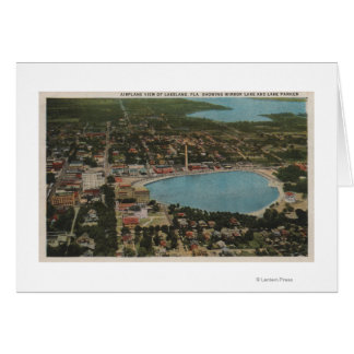 Lakeland, Florida - Aerial City View Showing Card