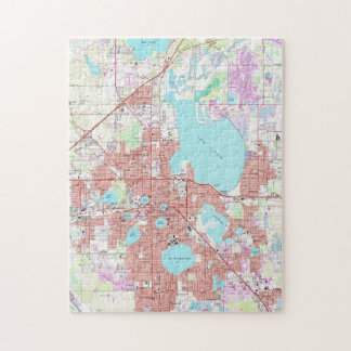 Lakeland Florida Map (1975) Jigsaw Puzzle