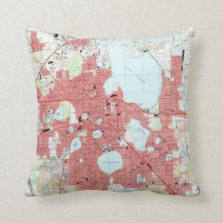 Lakeland Florida Map (1994) Cushion