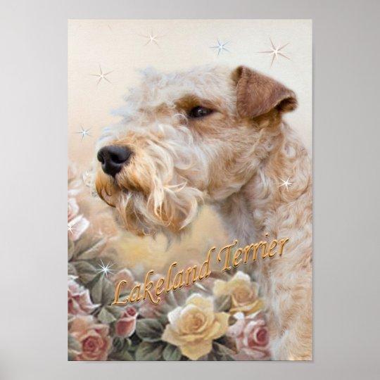 Lakeland Terrier Among Roses prints