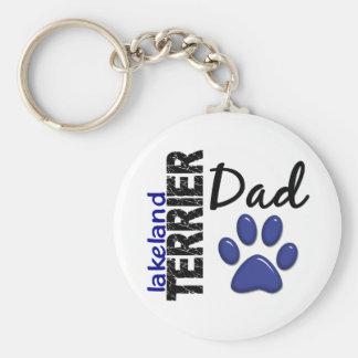 Lakeland Terrier Dad 2 Basic Round Button Key Ring