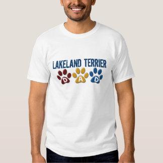 LAKELAND TERRIER Dad Paw Print 1 T Shirts