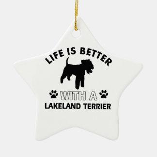 Lakeland Terrier Dog breed designs Ceramic Star Decoration